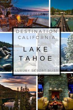 Lake Tahoe, California Resort and Lodging Getaways Top All Inclusive Resorts, Luxury Resorts, Hotels And Resorts, Best Hotels, Luxury Spa, Luxury Travel, Tahoe California, California Camping, Lake Tahoe Resorts