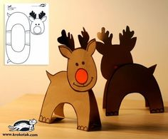 DIY Paper reindeer for Cathy Roberts Preschool Christmas, Noel Christmas, Christmas Activities, Christmas Crafts For Kids, Christmas Printables, Winter Christmas, Holiday Crafts, Christmas Decorations, Christmas Ornaments