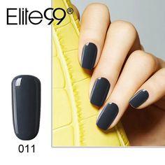 Elite99 10ml Gelpolish Nail Gel Polish UV Lamp Needed Nail Polish For Nail Art Gray Series 12 Colors Pick 1 UV Nail Varnish