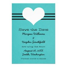 DealsModern Heart Save the Date Invite, AquaIn our offer link above you will see
