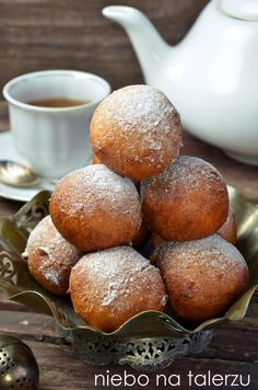 Donut Recipes, Cake Recipes, Cooking Recipes, Paczki Donuts, Doughnuts, Low Carb Side Dishes, Cookie Pie, Polish Recipes, Food Cakes
