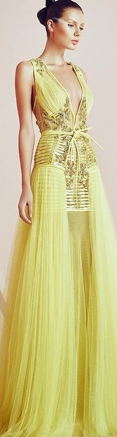 Basil Soda couture 2015 ~ More beautiful dresses added daily @ https://www.pinterest.com/tanja62287/couture-dresses/