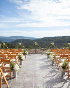 The ceremony location at Tehema Golf Club presented views of the Carmel Mountains. To add to the jaw-dropping scene, Melody King of Fleurish Floral bedecked the ceremony site with soft pink and white floral arrangements and green garlands. The property came with an added bonus—its owner, Clint Eastwood. Chris counts sharing a toast with the accomplished actor pre-ceremony as a highlight of the day.