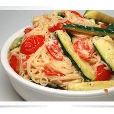 Healthy Pasta Recipe with Cream Sauce