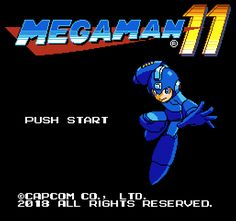 Megaman 11 - Game Title in 8bits
