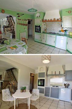 avant apr s r nover sa cuisine en 2 week end before after little kitchen diy bricolage. Black Bedroom Furniture Sets. Home Design Ideas