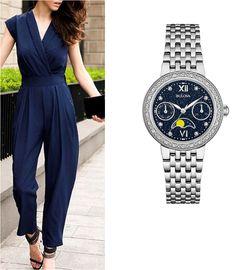 Reloj Bulova con diamantes para dama Moda para mujer