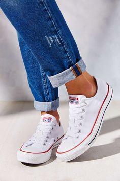 All white brand new converse