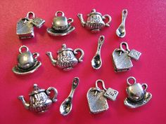 '51 Piece Tea Lovers Charm Lot' is going up for auction at  5pm Wed, Nov 7 with a starting bid of $7.