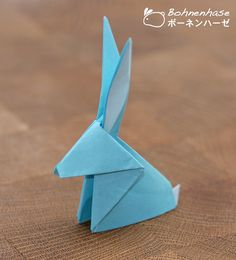 Bohnenhase: Creative Monday: Simple Origami Rabbit / シンプル折り紙ウサギ