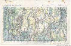 Princess Mononoke Studio Ghibli Layout Design