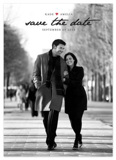 simplicity - save the date cards