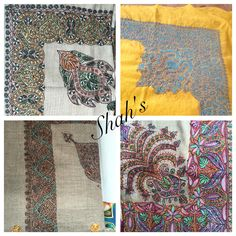 Fine embroidered  Pashmina Gutra's available at shah's..