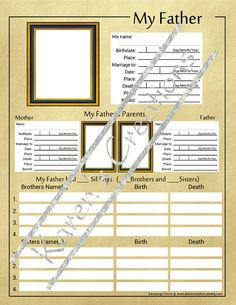Custom Blank Forms for Genealogy Research - For Ty and Logan Genealogy Forms, Genealogy Research, Family Genealogy, Family Tree Book, Family History Book, Family Album, Family Trees, Family Reunion Games, Family Reunions