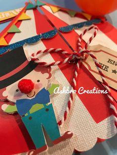 circus/carnival birthday invitation
