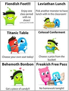 Class Dojo Reward Coupons: little miss is loving this program