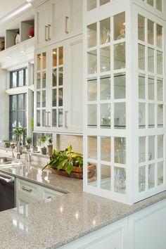 Popular Kitchen Cabinets Glass Doors Set