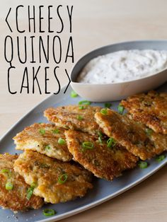 Cheesy Quinoa Cakes | appetizer recipe | Spoon Fork Bacon