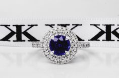 Blue sapphire engagement ring by Kalfin Jewellery #diamondrings#bluesapphire#engagementringsmelbourne#diamondringsmelbourne#jewellers#cbdjewellers#melbourne#cityjeweller#love#custommaderings#wedding#couture#bride www.kalfin.com.au