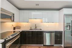 Compact Kitchen, Home Kitchens, Kitchen Remodel, Kitchen Cabinets, Vacation, Modern, Home Decor, Restaining Kitchen Cabinets, Homemade Home Decor