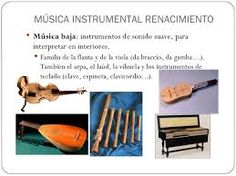 Resultado de imagen de fotografias de instrumentos del renacimiento