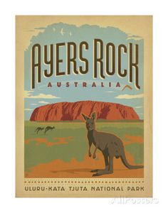 Ayers Rock, Australia Prints by Anderson Design Group at AllPosters.com