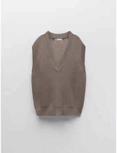 Knit Vest, Zara, Turtle Neck, Pullover, Knitting, Sweaters, Shopping, Fashion, Moda