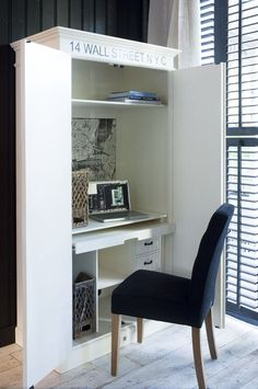 Computer Cabinet <3   I love hidden storage!
