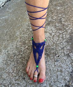 Take a look at the Jayli Royal Crochet Barefoot Sandal - Women on #zulily today!