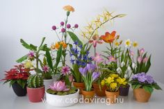 Clay Flowers, Planter Pots, Crafting