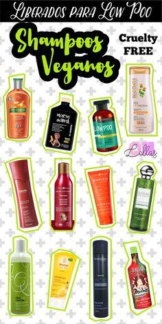 Várias pessoas me pedem uma listinha de shampoos liberados para Low Poo e eu sempre ficava toda atrapalhada. Agora reuni aqui 12 opções incríveis de shampoo sem sulfato e que são cruelty free, veganos! Os animais agradecem, e nossa consciência também. Liberado para low poo. #vegan #crueltyfree #lowpoo