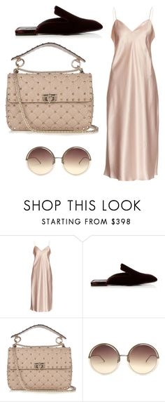 """""""Sin título #7755"""" by ceciliaamuedo ❤ liked on Polyvore featuring Yves Saint Laurent, Jil Sander, Valentino and Linda Farrow"""