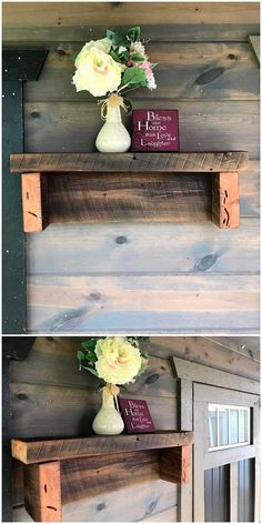 22 best Creative and clever drone designs images on Pinterest     Pallet Wall Shelf