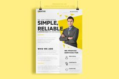 FREE BUSINESS FLYER Download this Clean and stylish FREE business flyer psd template, you can use it for personal or professional projects:http://www.niftygraphic.com/free-business-flyer/  Layered Photoshop PSD template (A4 format)  Enjoy 😉