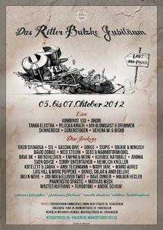 """2x2 Gästelistenplätze für -""""3 Years The Ritter Butzke Jubilee"""" 05.10. - 07.10.2012"""