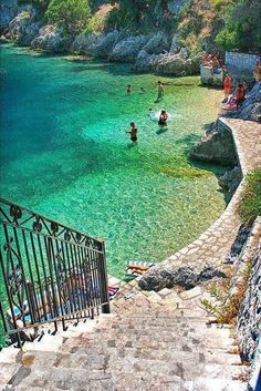 Ithaca Island, Greece. That water...