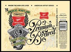 mybeerbuzz.com - Bringing Good Beers & Good People Together...: Miller High Life - Harley-Davidson 16oz 4-Pack Can...