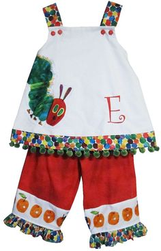 Custom The Very Hungry Caterpillar Dress or by ChildrensCottage, $53.00