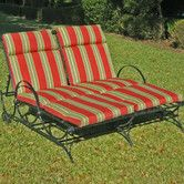 Found it at Wayfair - Mandalay Wrought Iron 5-Postion Double Patio Chaise Lounge 13B105727505  10% off code.. sign up to get yours.