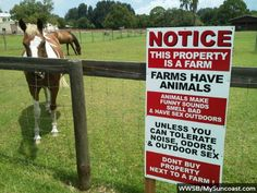 Residents of a rural area in Florida are fighting a proposed housing development by putting up signs warning their potential new neighbors about what really goes on at farms in Englewood.