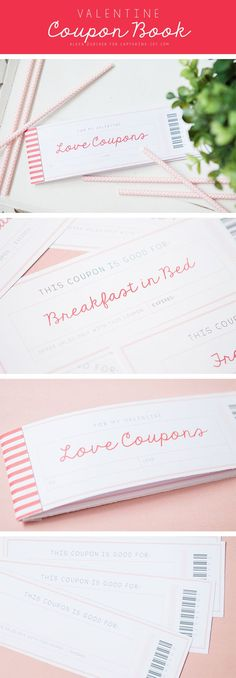 Valentine's Day Coupon Book!  Free printable! Capturing-Joy.com