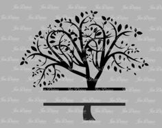 Split Stammbaum SVG DXF EPS schneiden, Fil, Stammbaum-Dateien, Dateien schneiden für Cricut Kontur, Svg, Stammbaum-Design,