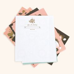 Recalling classic hotel stationery from a bygone age, this richly indulgent set of writing paper, ...