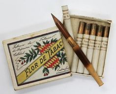 Amazing-Antique-c1900-Advertising-Cigarette-Tobacco-Pack-Hidden-Pencil-Set