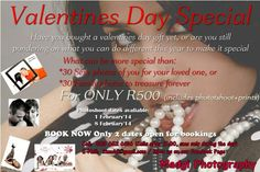 Book your valentines day photoshoot now.  Limited shoots available