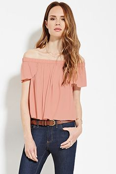 Buy Hot Pink Top off shoulder for woman at best price. Compare Tops prices  from online stores like Forever 21 - Wossel United States