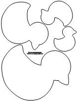 Fun children's learning activities, including printable templates, for preschool, kindergarten and elementary school kids. Animal Templates, Applique Templates, Applique Patterns, Applique Designs, Embroidery Applique, Duck Crafts, Felt Crafts, 3d Cuts, Little Duck