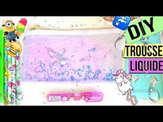 "DIY BACK TO SCHOOL 2016┋TROUSSE LIQUIDE (LICORNE / EMOJI / MINION) ""francais"" liquid pencil case - YouTube"