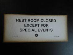 Vintage Warning Sign Las Vegas Reno Hotel 1941 Ladies Of The Night Thick Paper… Bathroom Humor, Bathroom Signs, Reno Hotels, Antique Stores, Warning Signs, Gag Gifts, Paper Goods, Pallets, Las Vegas