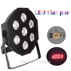 4pcs/lot LED Luxury DMX 8 Channels Led Flat Par Light 7x12W RGBW 4IN1 Fast Shipping Only US $107.00
